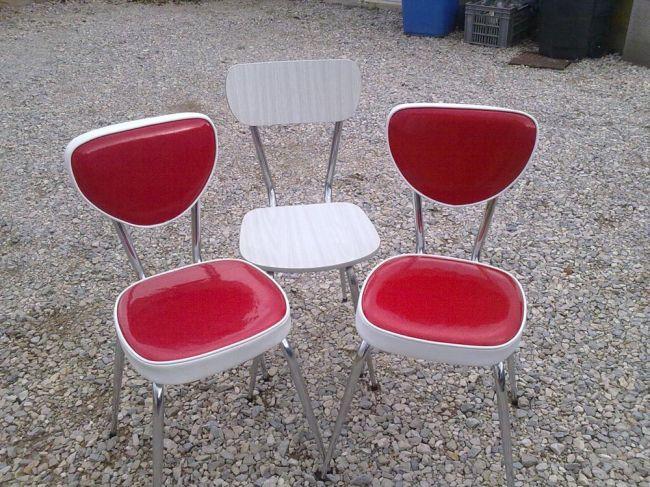 Chaises de cuisine vintage