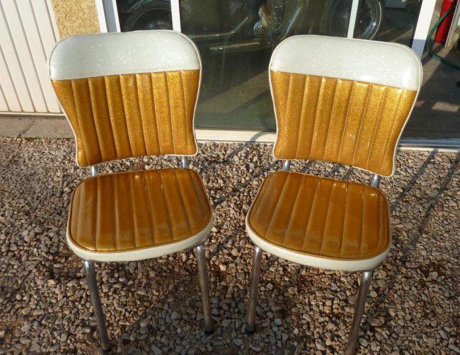 Chaises de cuisine fifties